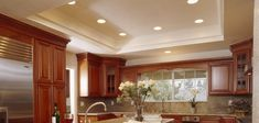 kitchen lighting design guide Photo Courtesy Of LEDingthelife Outdoor Recessed Lighting, Bathroom Recessed Lighting, Installing Recessed Lighting, Led Recessed Ceiling Lights, Kitchen Lighting Design, Dining Room Lighting, Bedroom Lighting, Ceiling Lighting, Apex Homes