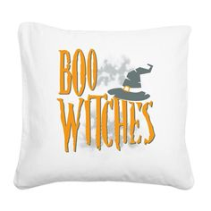 Boo Witches Halloween Gifts Square Canvas Pillow