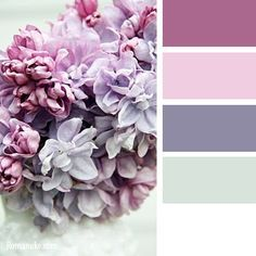Vintage flower palette.