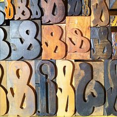 Lot of #ampersand odds from the #woodtype collection