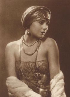 Vilma Banky, the Hungarian Rhapsody, Silent Film Star, circa 1920s