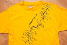 c35784a0 Cataract Canyon Colorado River Rapids T-Shirt, Whitewater Rafting, M,  Vintage 1980s, Route Map Graphic Tee, Utah Souvenir, Hanes 50/50