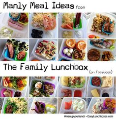 """Man Up Your Lunch – Packed Lunch Box Ideas for Men ► <a href=""""http://bit.ly/1ekdpc2"""">http://bit.ly/1ekdpc2</a><br /> Inspiration and links to packed meal ideas that are man-sized, husband-tested, and guy-friendly. Packed lunches are not just for kids!"""