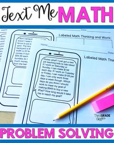 These engaging math word problems are written in the form of a text and require critical thinking and problem solving from your students. Word problem activities are two step problems. Click to see more!