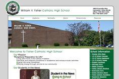 Fisher Catholic High School, Lancaster, Ohio    Designed by: WebChick.com