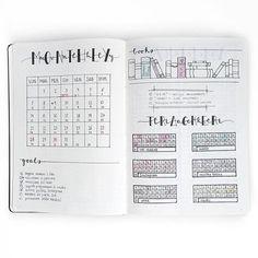 Un modèle mixant grille, petits trackers, objectifs et liste de livres à lire…