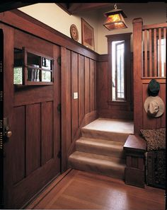 Arts & Crafts Door Options - Old-House Online - Old-House Online Arts And Crafts Interiors, Arts And Crafts Furniture, Arts And Crafts House, Home Crafts, Craftsman Interior, Craftsman Style Homes, Craftsman Bungalows, Craftsman Houses, Craftsman Decor