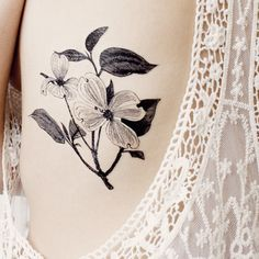 Dogwood Flower temporary tattoo Pattern Tattoo Temporary Tattoo wrist... ($4.95) ❤ liked on Polyvore featuring accessories and body art