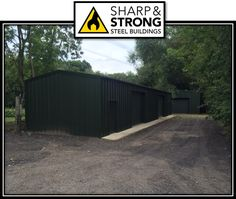 Prefabricated Steel Building With 2 Roller Shutter Doors And 2 Personal  Access Doors Erected In Oxfordshire