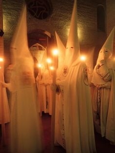 The Penitants, Holy Week, Semana Santa, Seville,Spain.  Wow, doesn't this seem very similar to the KKK?