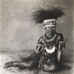"""Sitting Enga Woman"" by Irving Penn in New Guinea (1970)"