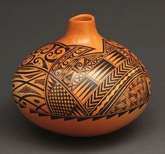 Pottery Vase by Les Namingha (Hopi)