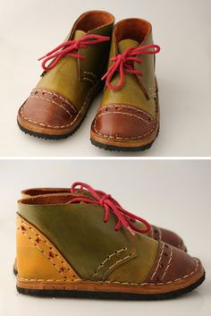 Making children's shoes is especially rewarding, because you know what they are made of. Most shoes offered today consist of synthetic, glued together components that aren't healthy