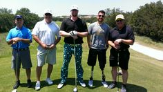 """Josh """"Superman"""" Crews entertaining for a Wounded Warriors tournament."""