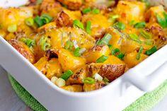 Bacon Ranch Potatoes bacon ranch, cheesy potatoes, food, ranch potato, potato recipes, yummi, side dish, casserole recipes, ranch dressing