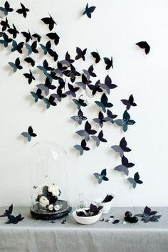 black butterfly decor