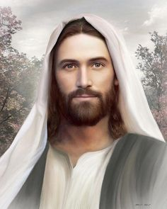 Image Du Christ, Image Jesus, Pictures Of Jesus Christ, Religious Pictures, Arte Lds, Jesus Christus, Lds Art, Jesus Painting, Jesus Face