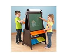 Delicieux Grand Storage Kids Easel With Bins