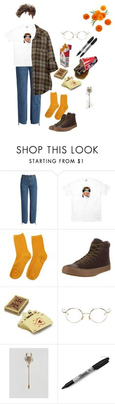 """""""Creature"""" by short-skirt-long-jacket ❤ liked on Polyvore featuring Vetements, Converse, Hermès, ETUÍ, Native Sons, ASOS, Sharpie, men's fashion and menswear"""