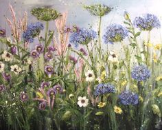 Early summer bloomers by artist Marie Mills