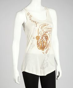 Take a look at this Ivory Tiger Top by Pine Apparel on #zulily today! $27 !!