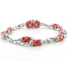 New Summer 2013 Collection! John Medeiros Coral Double Strand Bracelet.