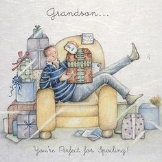Cards » Grandson » Grandson - Berni Parker Designs