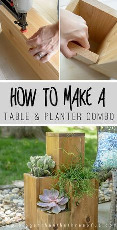 DIY Planter Pot Table Combo for the Patio
