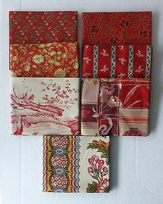 BON VOYAGE~Civil War~ Moda 7 Fat Quarter Bundle #5~Red/Red~ Quilt Sew  FQ234