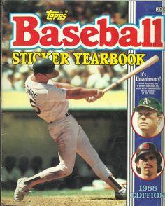 1988 Baseball Sticker Yearbook