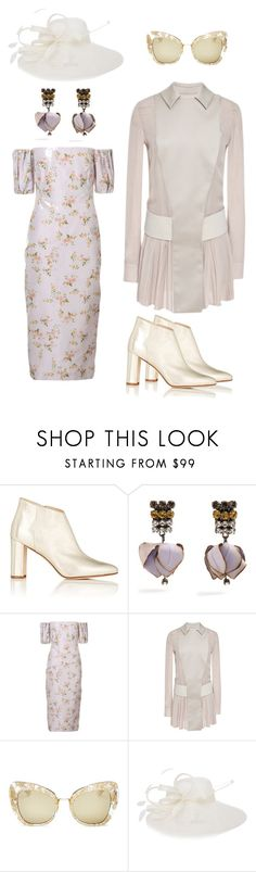 """""""Subtle bloom"""" by djstyle1 ❤ liked on Polyvore featuring Manolo Blahnik, Marni, Brock Collection, Mary Katrantzou and Dolce&Gabbana"""