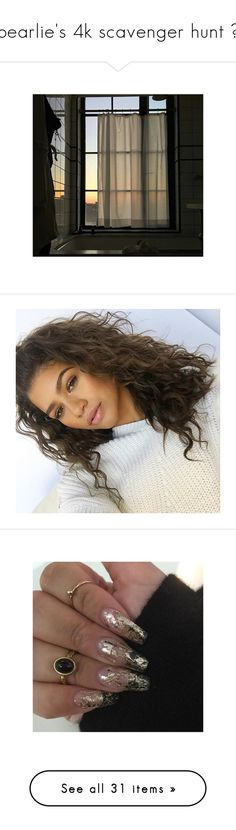 """pearlie's 4k scavenger hunt ✧"" by december-berry ❤ liked on Polyvore featuring pearlies4kscav, art, aestheticsbydecember, zendaya, hair, nails, pictures, fillers, tops and sweaters"