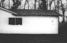 "Baltz, Lewis American Tract House PORTFOLIO ""The Tract Houses"", 1971 gelatin silver print x cm. Lewis Baltz, Stephen Shore, The 'burbs, Holga, Gelatin Silver Print, Another World, Conceptual Art, Color Photography, Black And White Photography"