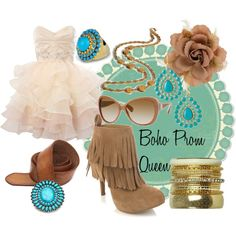 Boho Prom Queen, created by shannon-sanchez on Polyvore