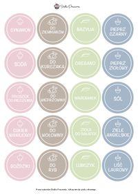 Etykietki na przyprawy - Słodka Pracownia - Przepisy | Dekoracje | Przyjęcia Logo Food, Getting Organized, Laundry, Graphics, Organization, Templates, Amazing, Diy, Sweet Pastries