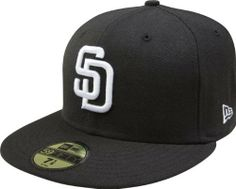 the best attitude 86ad2 d32ca MLB Cincinnati Reds Black with White Fitted Cap, 7 is the official on-field  cap of Major League Baseball and is worn by every Major League Baseball  player.