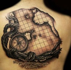 compass tattoo map - Google Search
