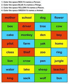 Grammar Worksheets for Kids, EFL-ESL Printable Worksheets