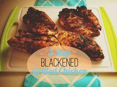 3 Step Blackened Chicken #paleo
