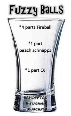 Fireball Drinks, Liquor Drinks, Cocktail Drinks, Alcoholic Drinks, Cocktails, Mixed Drinks Alcohol, Alcohol Drink Recipes, Smoothie Drinks, Smoothies