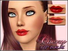 Cherry lip balm by Icedsims at the Sims Resource - Sims 3 Finds