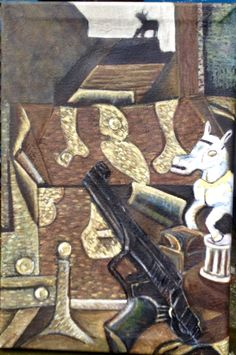 Still Life with Pistol and Horse  Oil on Canvas