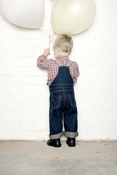 Cute denim dungarees for AW13 by Little Duckling