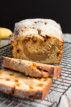 Banana Bread with Cookie Butter Cheesecake Swirl