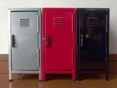 雑貨屋 Capriccio.to / METAL LOCKER Sサイズ (ミニロッカー小物入れ 高さ17cm 全3色)