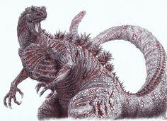 ゴジラ・Godzilla, Sabine van Apeldoorn on ArtStation at…