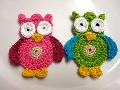 Crochet Owl Applique PDF Pattern. $3,50, via Etsy.