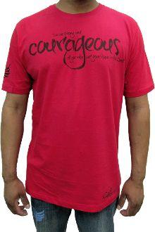 """Strong and Courageous"" Men's #ChristianTShirt #Godinspiredfashion"