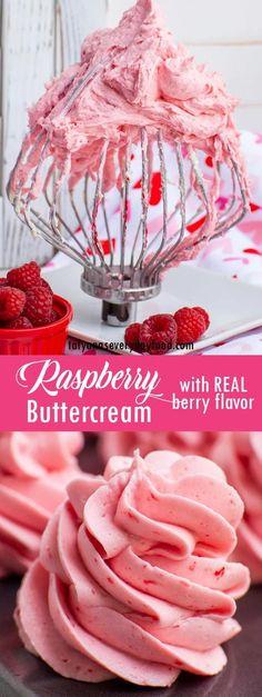 Raspberry Buttercream Frosting, Lemon Buttercream, Raspberry Sauce, Raspberry Filling, Raspberry Recipes, Winter Desserts, Mini Desserts, Tea Cakes, Cupcake Cakes