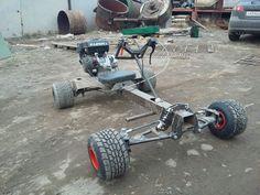 Build A Go Kart, Diy Go Kart, Custom Bikes, Custom Cars, Go Kart Designs, Drift Trike Frame, Go Kart Frame, Homemade Go Kart, Go Kart Buggy